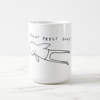 today feels good! basic white mug