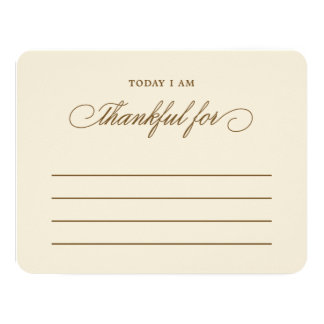Today I am Thankful For Thanksgiving Dinner Cards