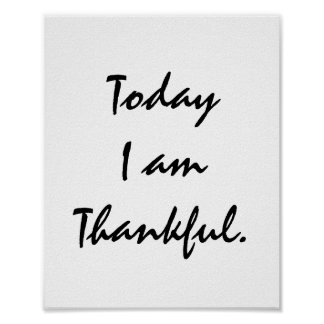 Today I am Thankful. Poster