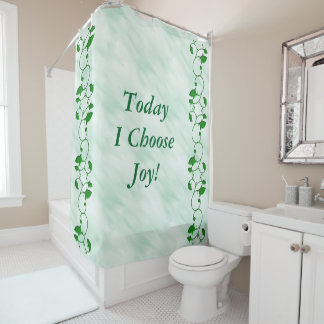 Today I Choose Joy Positive Quote Green Leaves