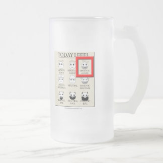 Today I Feel Chaotic Good Frosted Glass Mug