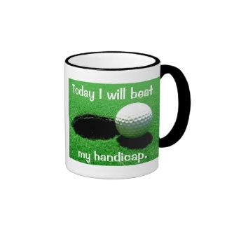 Today I Will Beat My Handicap Golfing Ringer Coffee Mug