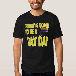 Today is a gay day. tee shirt