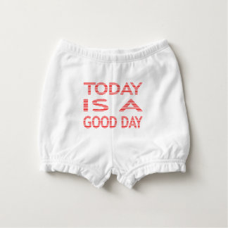Today is a good day - strips - red and white. diaper cover
