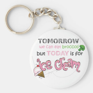 Today is for Ice Cream Quote Keychain