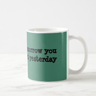 Today is the tomorrow you worried about yesterday coffee mug