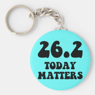 Today matters marathon basic round button keychain