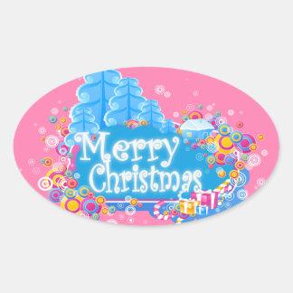 Today's Best Award Winner~Winter Wonderland Oval Sticker