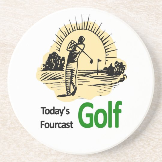 "Todays Fourcast ""Golf"" Coaster"