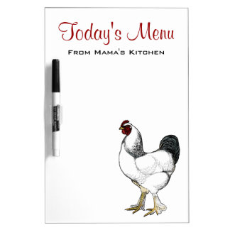 Today's Menu from Mama's Kitchen - Rooster Dry Erase Board