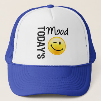 Today's Mood Emoticon Winking Trucker Hat