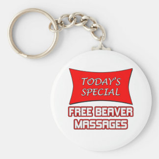 Today's Special Free Beaver Massages Basic Round Button Keychain