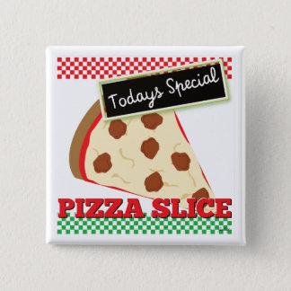 Todays Special - Pizza Slice 2 Inch Square Button