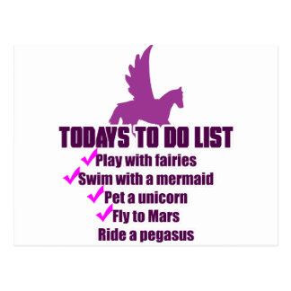 Today's To Do List Postcard