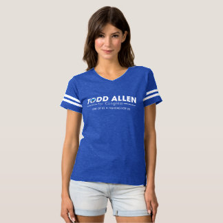 Todd Allen for Congress Logo: Women's Football Sty T-shirt