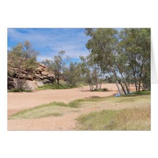 Todd River Basin Near Alice Springs Card