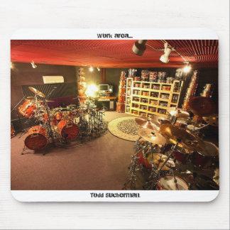 "Todd Sucherman ""Work Area"" Drum Room Mouse Pad"