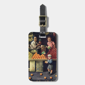 Toddler and Oranges Luggage Tag