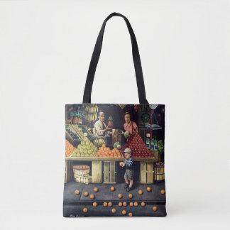 Toddler and Oranges Tote Bag