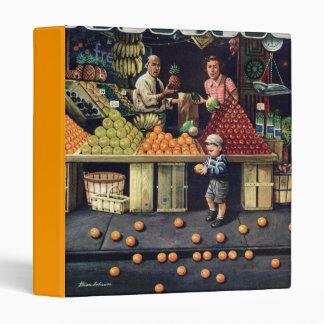 Toddler and Oranges Vinyl Binder