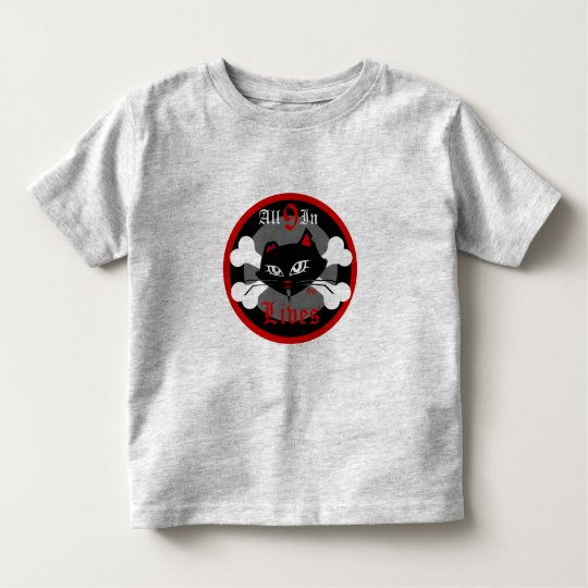 Toddler Bad Kitty for Boys 9 Lives Tee