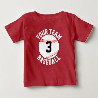 Toddler Baseball Team Name & Jersey Number Gameday Baby T-Shirt