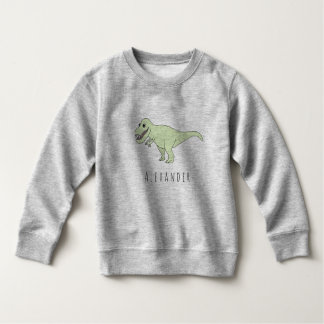 Toddler Boy Doodle T-Rex Dinosaur with Name Sweatshirt