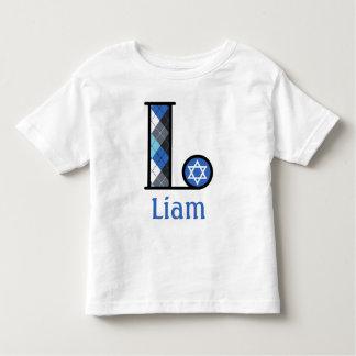Toddler Boy Star of David Hanukkah Tee monogram L