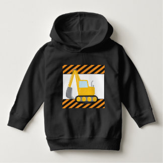 Toddler boys construction Trackhoe hoodle Hoodie