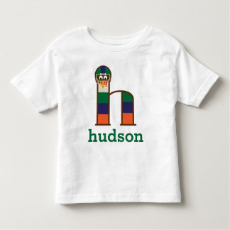 Toddler Boys Thanksgiving Football Shirt Letter h