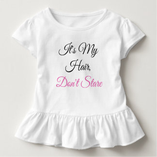 Toddler, Don't Stare-Ruffle Toddler T-shirt