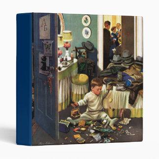 Toddler Empties Purses Vinyl Binder