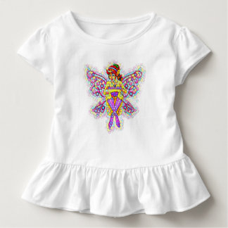 Toddler fairy t shirt with ruffle
