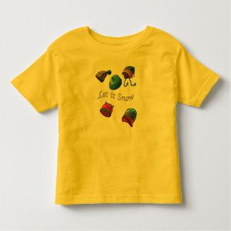 Toddler Fine Jersey T-Shirt, Let it snow Toddler T-shirt