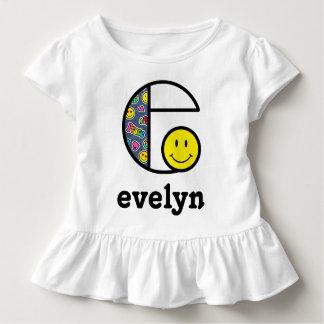 Toddler Girl Emoji Shirt Monogram Patches Top e