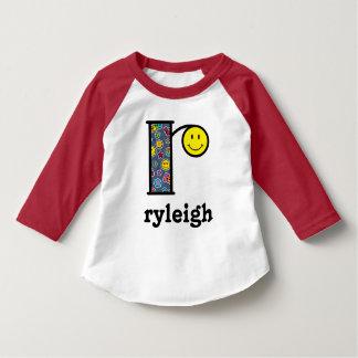 Toddler Girl Monogram Top Emoji Shirt Monogram r