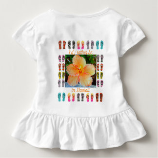 Toddler Girls Cute Ruffle Top, Hawaiian Tapestry Toddler T-shirt