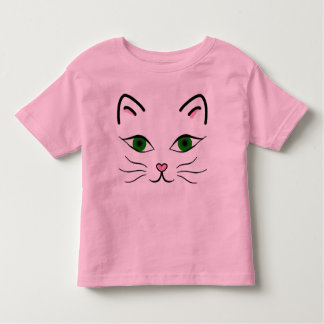 Toddler Jersey T-Shirt - Kitty Face