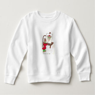 Toddler long sleeve sweatshirt with cat image