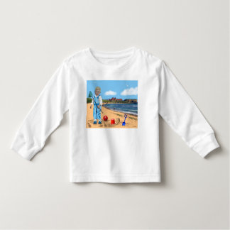 Toddler long sleeve T-shirt boy cute seaside beach