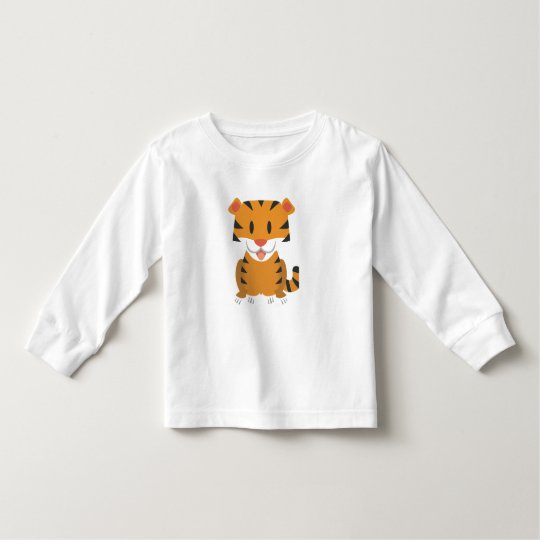 Toddler Long Sleeve T-Shirt with cartoon tiger