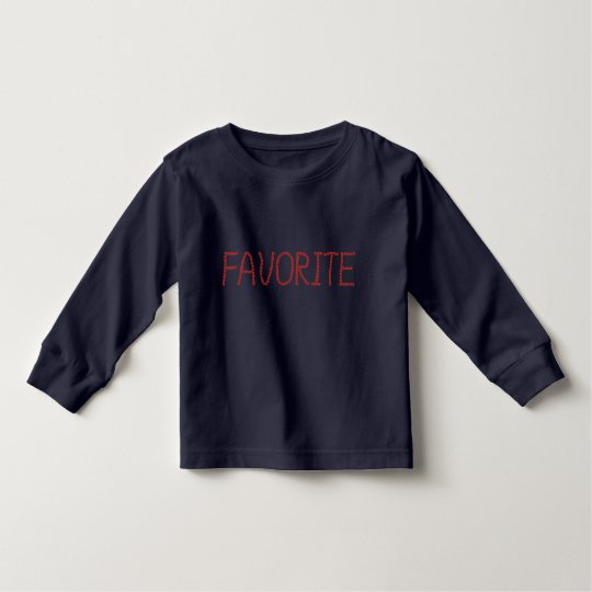 Toddler long sleeve T-shirt with 'favourite'