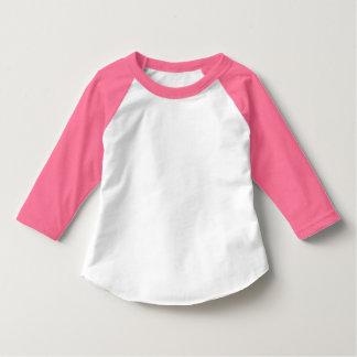 Toddler Neon Pink and White 3/4 Sleeve Raglan T Shirts