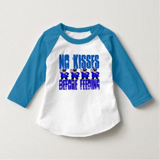 Toddler No Kisses Before Feeding 3/4 SleeveT-Shirt T-Shirt