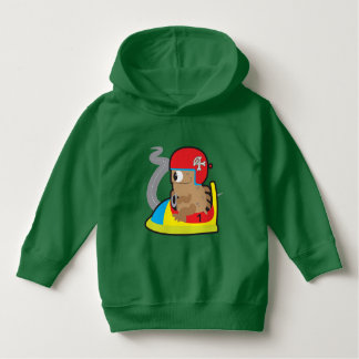 Toddler Pullover Hoodie, Kelly Green with monster
