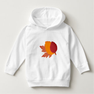 Toddler Pullover Hoodie with Leaves
