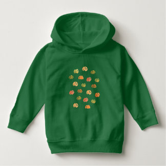 Toddler pullover hoodie with pumpkins