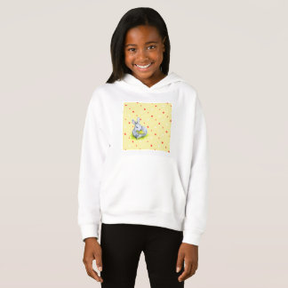 Toddler Pullover Hoodie with vintage bunnies