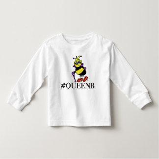 Toddler queen bee hashtag shirt