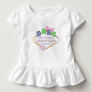 Toddler Ruffle Baby Girl from Las Vegas Tee